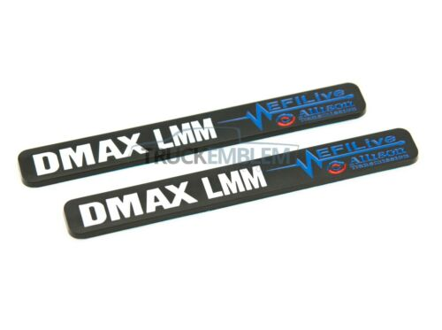 "2 New Black /& White Duramax Diesel /""DMAX LMM/"" Allison EFILIVE 2500 3500 Badges"
