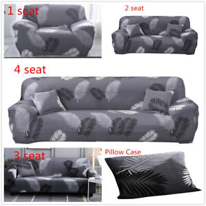 1 2 3 4 Seater Black Feather Sofa Cover Stretch Protector Couch