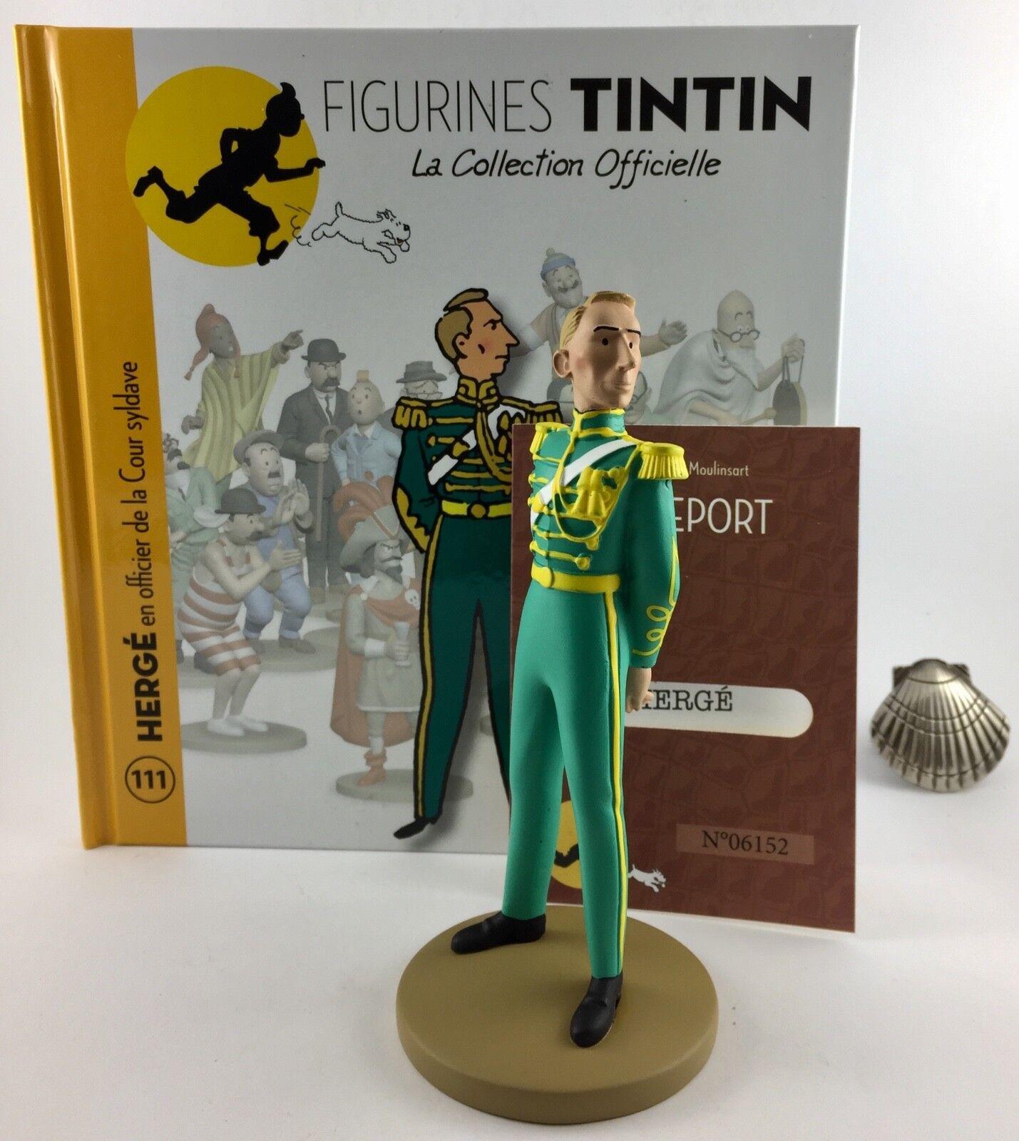 Collection officielle figurine Tintin Moulinsart 111 Hergé officier Cour Syldave