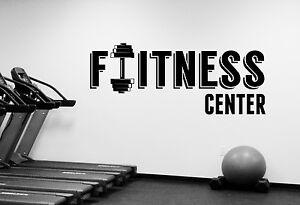 Fitness center logo wall decal gym vinyl sticker art sports room
