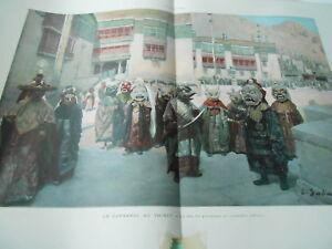 Illustration Carnaval Au Thibet Fête Du Printemps Monastère D'himis Print 1902 Luxuriant In Design