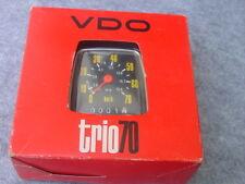VDO Bonanzarad Trio 70 Tacho neu ovp  ca.1980 24-28 Zoll  ovp NOS  0 km
