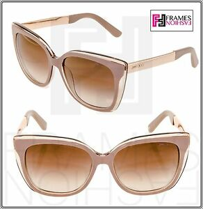 dbe686db460a6 JIMMY CHOO Octavia Dove Grey Rose Gold Mirrored Metal Sunglasses ...