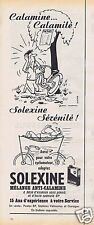 Publicité Advertising 056 1961 Solexine mélange anti-calamine par Jean Marc