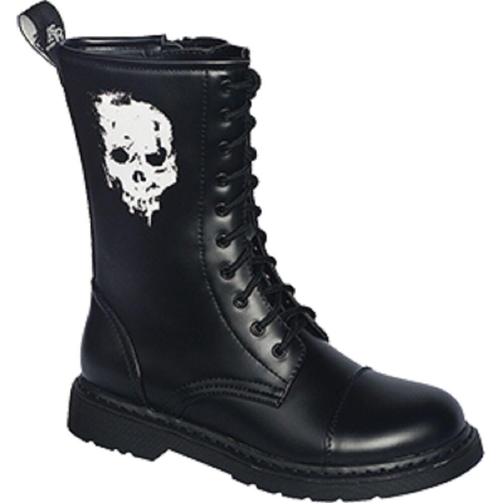 10 Loch Stiefel UK Stiefel 37 38 39 40 41 42 43 44 45 46 skull totenkopf schädel