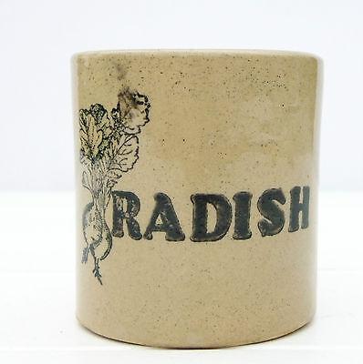Vintage Retro 1970s Moira Stoneware Radish Jar Pot