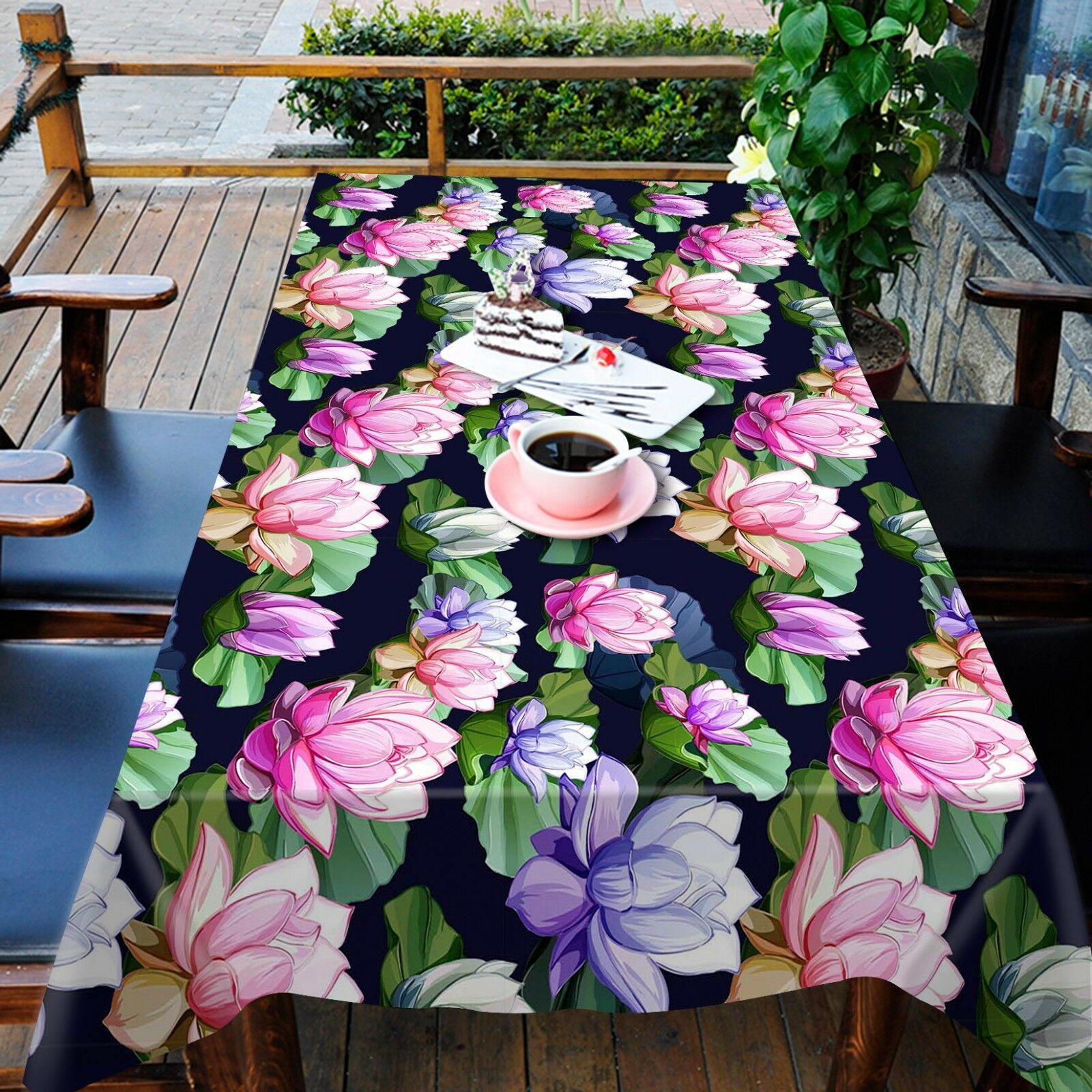 3D Couleur Lotus 43 Tablecloth Table Cover Cloth Birthday Party Event AJ WALLPAPER