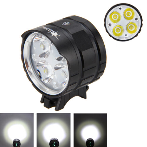8000LM 4x XM-L T6 LED Head Bike Lamp Front Bicycle light 12000mAh Laser Light