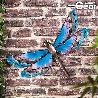 Garden Gear Large Metal /& Glass Hanging Dragonfly Indoor /& Outdoor Wall Art NEW