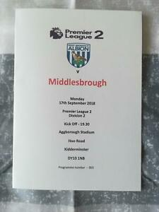 WEST-BROMWICH-ALB-v-MIDDLESBROUGH-17-09-18-U23-PREMIER-LEAGUE-2-DIV-2-PROGRAMME