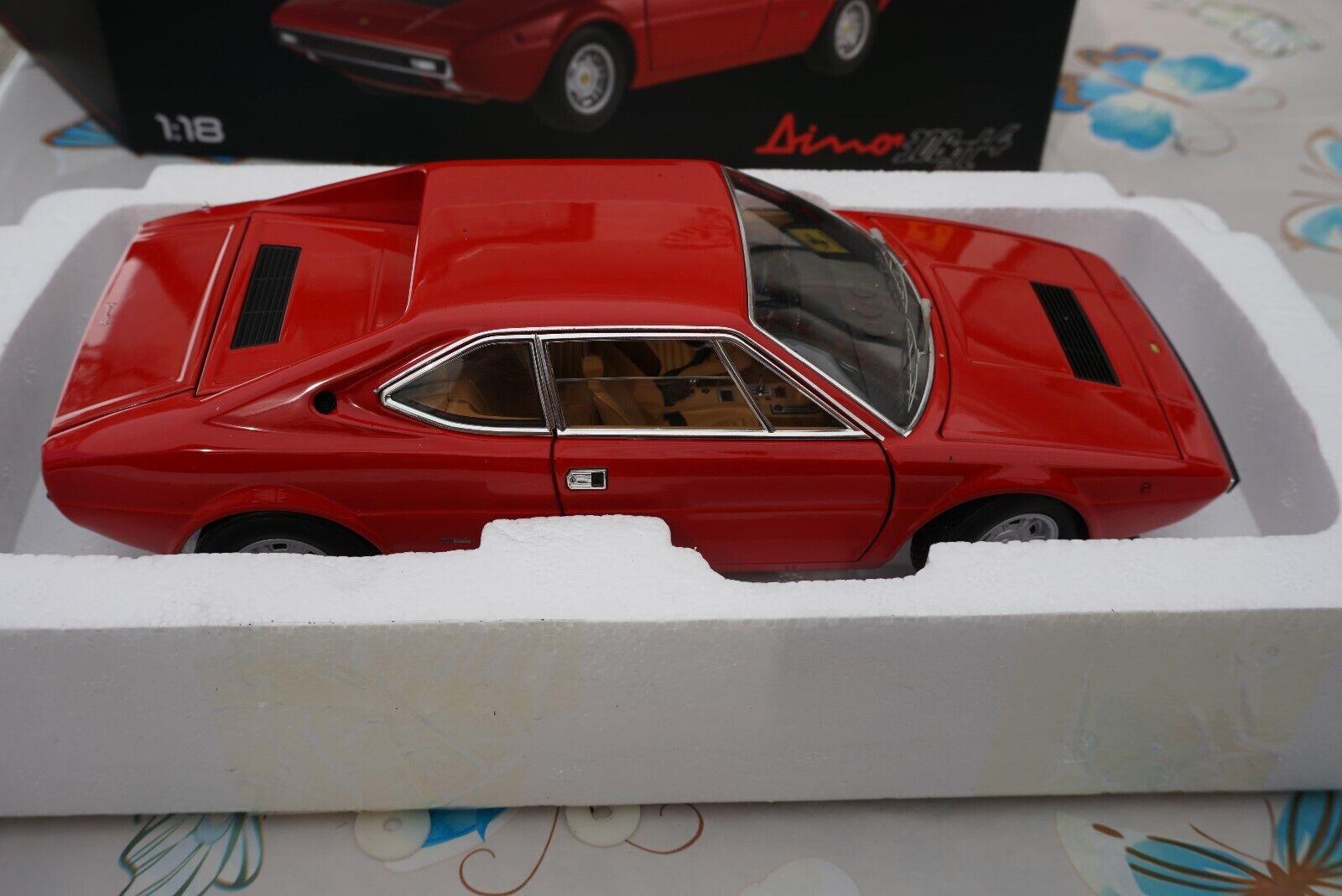 1 : 18ホットウィールエリートフェラーリディーノ308 GT 4レッド