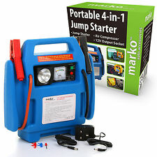4 in1 Car Jump Starter Air Compressor Battery Charger Booster Leads Heavy Duty