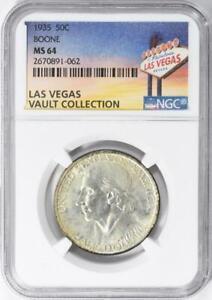 1935-Boone-Commemorative-Silver-Half-Dollar-NGC-MS-64-Casino-Vault