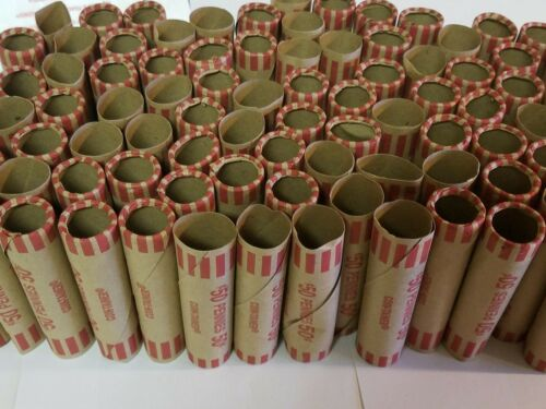 250 Coin-Tainer Paper Penny Wrappers 50 Cents ea Pre-Crimped End Shotgun Rolls