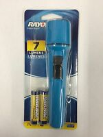 Rayovac Flashlight With 2 Aa Batteries 7 Lumens Assorted Colors (new)