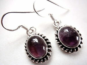 Purple-Amethyst-Rope-Style-Accents-925-Sterling-Silver-Dangle-Earrings-New