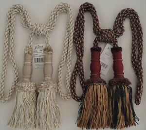 """2 colors to choose from! 30/""""spread with 8/""""tassel Curtain/& Chair Tie-Back"""