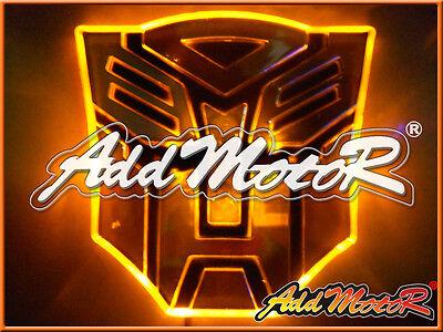 Heyman 1pcs Yellow LED 3D Autobot Transformers Emblem Badge Decal Car Sticker