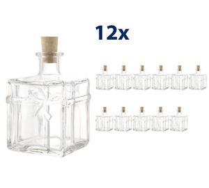 12 x 350ml paket weihnachtsflaschen flaschen schnapsflaschen leere glasflaschen ebay. Black Bedroom Furniture Sets. Home Design Ideas