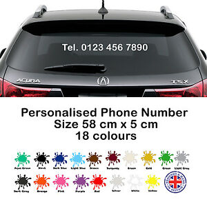Details about Telephone Number Sticker - Custom Vinyl Decal, Business  Advertisement