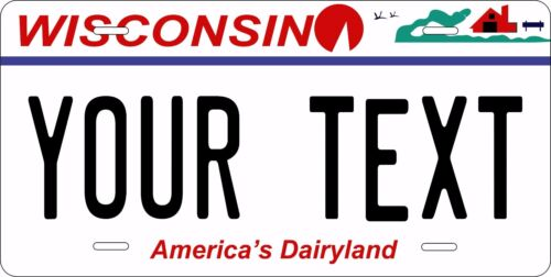 Wisconsin 2000 Personalized Custom License Plate Car Motorcycle Bike