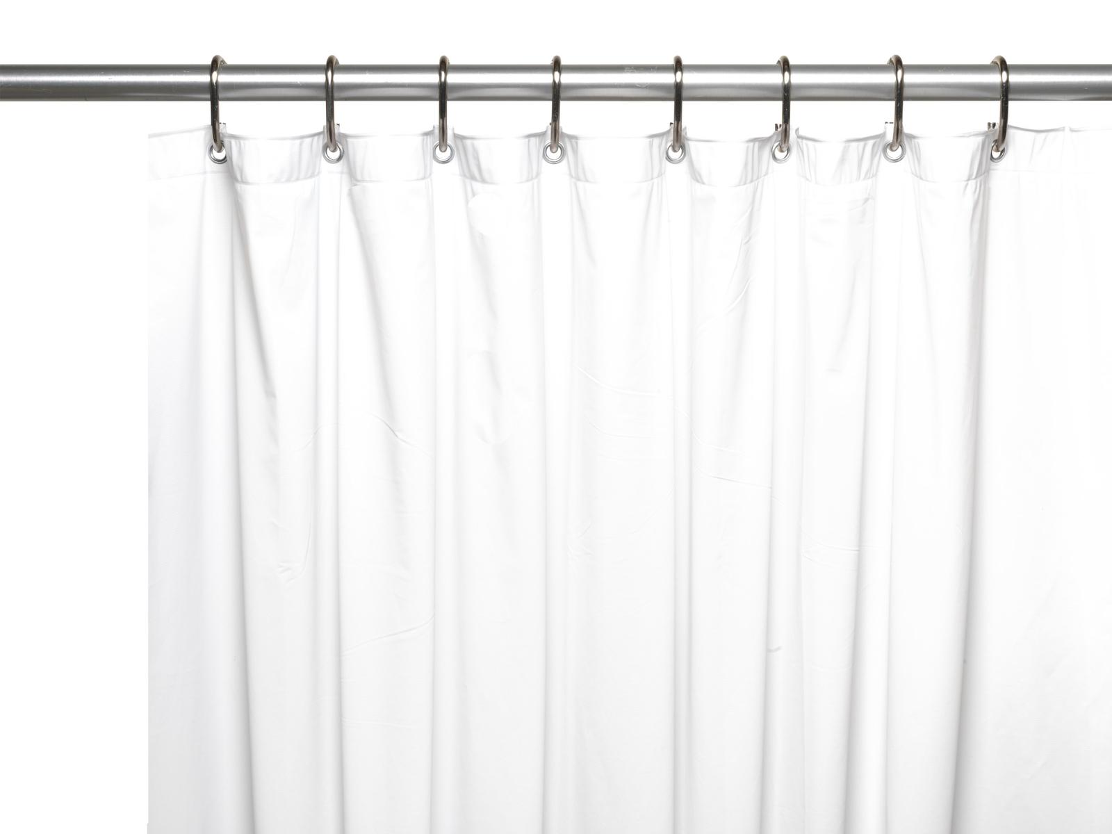Carnation Home Fashions 8-Gauge Vinyl Shower Curtain Liner,X