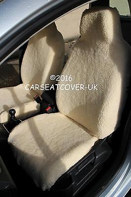 LILAC COW FAUX FUR FULL SET SEAT COVERS TO FIT A FIAT 500 CAR