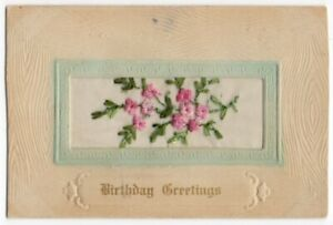 032520-LOVELY-VINTAGE-EMBROIDERED-BIRTHDAY-GREETINGS-POSTCARD-FLORAL