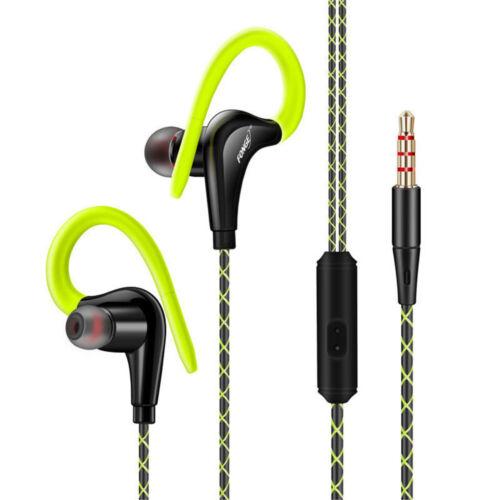 Waterproof IPX5 Earphone Sport Running Headphone Stereo Bass Headset With Mic