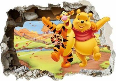 Wandtattoo Pu der Bär Wandsticker 3D Winnie Pooh Tigger Wandaufkleber 150 Loch