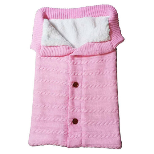 Baby Schlafsack für Kinderwagen Süße Samt Warme Tasche Gestrickt Schlafsack Neu