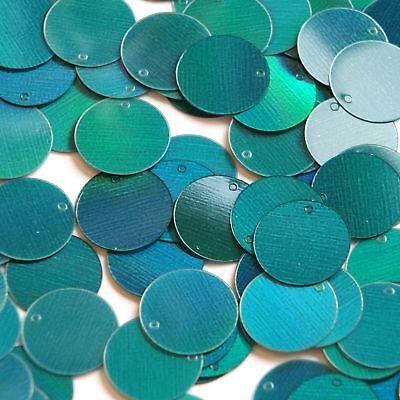 20mm Sequins Center Hole Silver Metallic Iris Rainbow Iridescent Made in USA