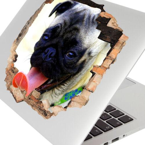 Wall Stickers Pug Dog Animal Tongue Funny Laptop Girls Boys Living Door G146