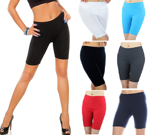Ladie/'s Short Leggings Cropped Cotton Active Sports Fitness Run Bike Over-Knee!