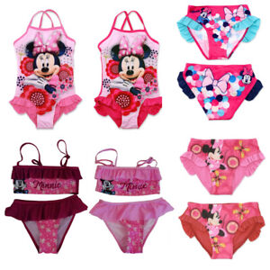 Disney Minnie Maus Kinder Mädchen Bikini Badeanzug Badehose Bademode Tankini