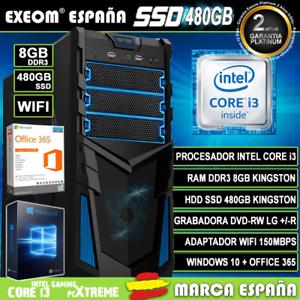 Ordenador-Gaming-Pc-Intel-i3-8GB-SSD-480GB-Wifi-Sobremesa-Windows-10-Office-365