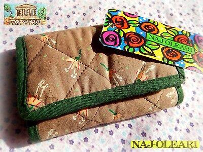 ???? Naj Oleari Vero Vintage Mini Portafoglio Trapuntato New Fashion Wallet 1980 Colori Armoniosi