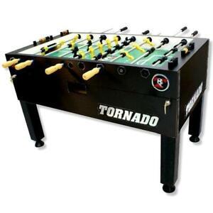 Tornado T-3000 Foosball Table In Matte Black Non-Coin Home Model