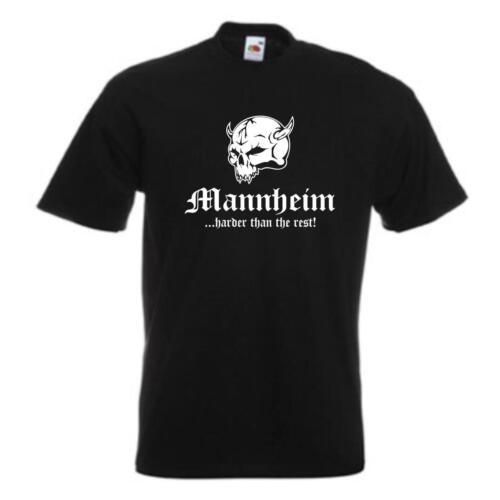 T-Shirt Mannheim harder than the rest Städteshirt Fanshirt S-12XL SFU14-37a