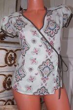 VILA  100% soft cotton cross over summer blouse top size XS