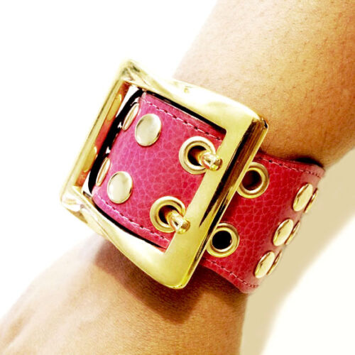 Be /& D Studded Buckle Leather Cuff Bracelet Be/&D MSRP $220