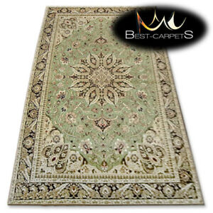 Image Is Loading Traditional Agnella Rugs Green Pea 034 Standard
