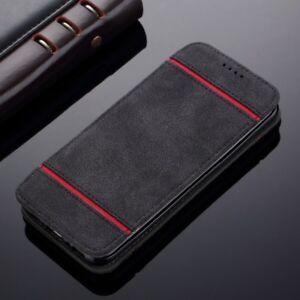 Coque-Flip-Ultra-Mince-Cuir-Leather-Wallet-Case-Magnetique-Etui-de-Protection
