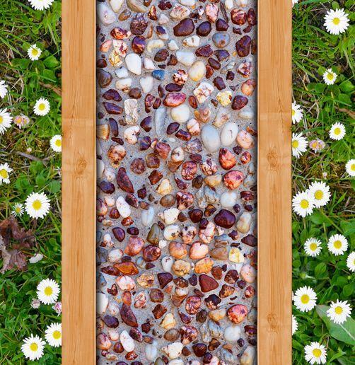 Pastizal de ruta de piedra 3D Piso Impresión De Parojo De Papel Pintado Mural Calcomanía 5D AJ Wallpaper