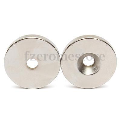 2 Piezas Disco Imanes Imán De Neodimio 30 x 5 mm Con Agujero 5mm Rare Tierra N35