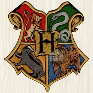 Attractive Image Is Loading Harry Potter Hogwarts Houses Logo Big Patch Gryffindor