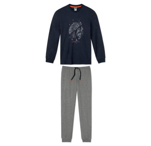 140 152 164 176 Nachtwäsche 100/% BW SCHIESSER Jungen Schlafanzug Pyjama lang Gr