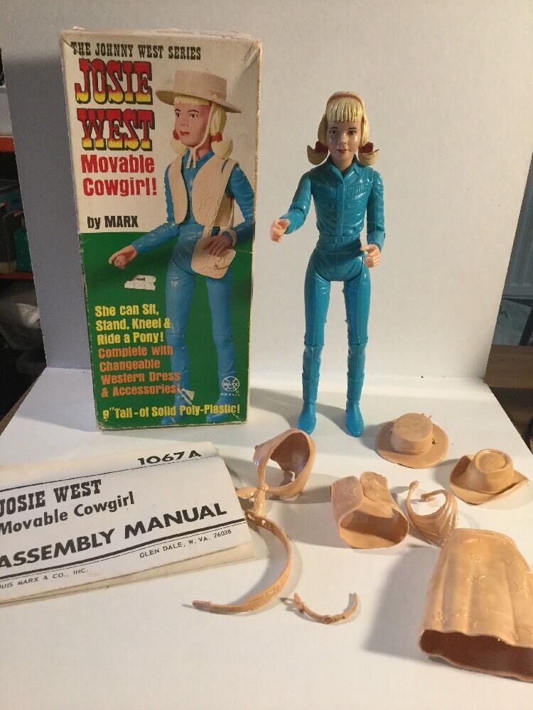 Marx Toys Johnny West Series Josie West Figure Boxed With Instructions 1067-A