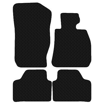 New Tailored Black Heavy Duty Rubber Car Floor Mats To Fit BMW X1 2010-2015