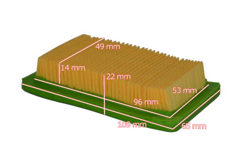 109x65x22 Luftfilter für China 10,9 X 6,5 X 2,2 CM Import Rasenmäher
